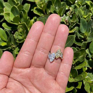 4.85ct Fancy Diamond and Platinum Ring