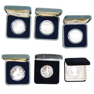 Six Silver Proof Coins