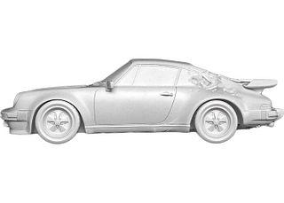 ERODED PORSCHE 911 TURBO WHITE - Daniel Arsham