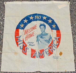 1963 Miss America Welcome Home Banner