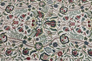 A length of crewelwork fabric,