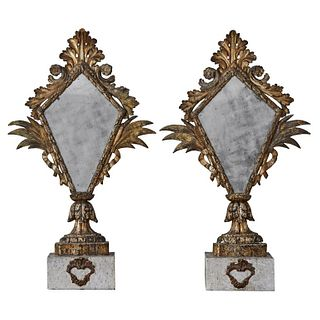 Pair of Brackets with Mirrors