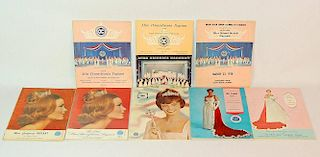Eight Miss America Preliminary Contest Programs