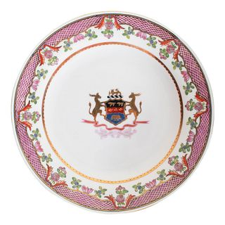 Chinese Export Armorial Plate