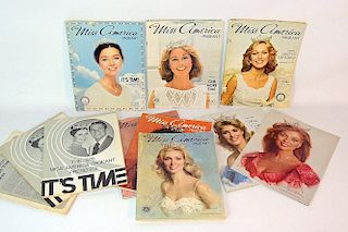 Eleven Miss America Pageant Programs