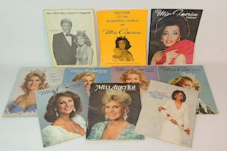 Miss America Pageant Programs Lot