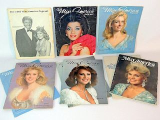 Nine Miss America Pageant Programs