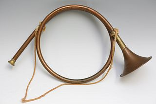 Copper and Brass Hunting Horn