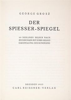 * GROSZ, GEORGE. A group of four politically charged books illustrated by Grosz.