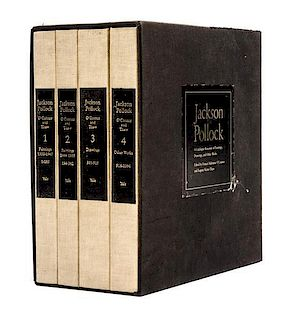 (POLLOCK, JACKSON). Jackson Pollock: A Catalogue Raisonne of His Paintings... New Haven and London, 1978. 4 vols. First edition.
