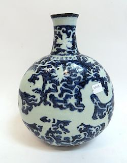 Blue & White Flask