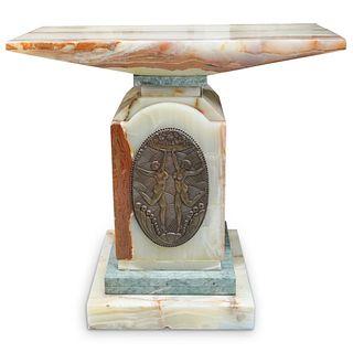 After Demetre Chiparus Onyx Pedestal