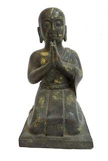 Antique Gold Gilt Bronze Buddha Casting