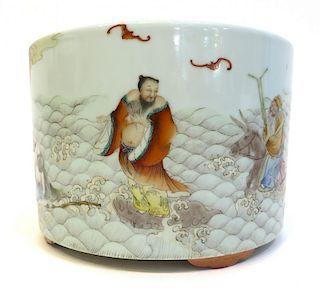 Fine Porcelain Qianlong Style Brush Pot