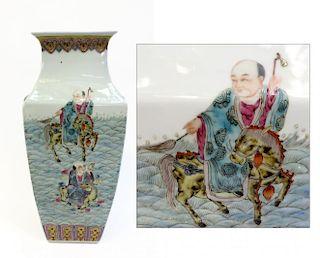 19th C. Tong Zhi Famille Rose Vase