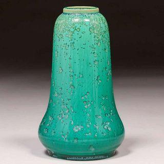 Thomas Gotham Green Crystalline Vase c1927