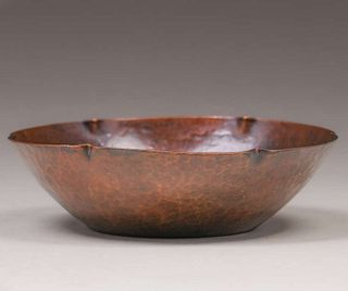 Sybil Foster - Boston Arts & Crafts Hammered Copper Bowl c1914