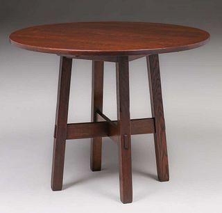 """Stickley Brothers 38""""d Table c1910"""