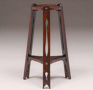Grand Rapids Three-Leg Cutout Side Table c1905