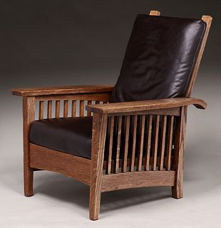 Arts & Crafts Spindled Morris Chair c1910