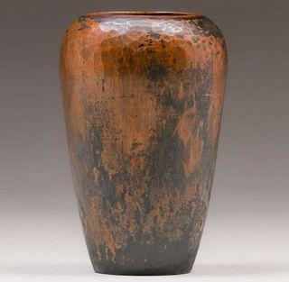 Roycroft - Walter Jennings Hammered Copper Vase c1915