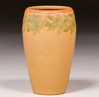 Marblehead Pottery Decorated Vase c1910