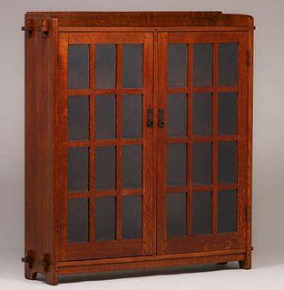 L&JG Stickley Two-Door Bookcase c1908-1912
