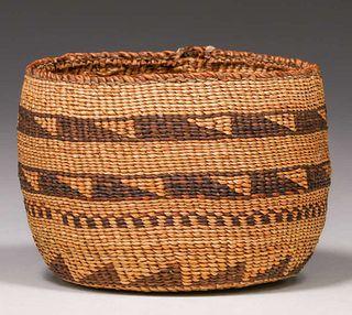Native American Basket - Klamath/Modoc Northern California c1910s
