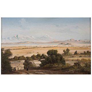 CARLOS PELESTOR, Sin título, Firmado, Óleo sobre masonite, 20 x 29 cm