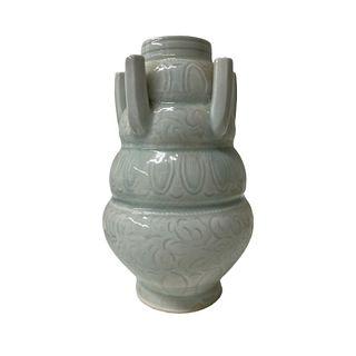 Antique Chinese six opening flower vase