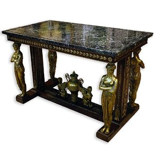 A French Empire Marble Top Table