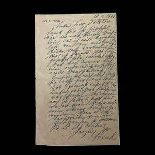 Sigmund Freud Autograph Letter