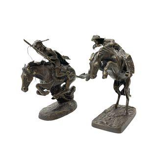 Pair of Frederic Remington Sculptures