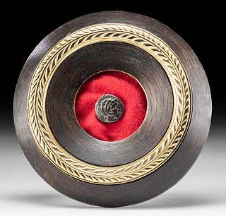 Framed Macedonian Alexander III AR Tetradrachm