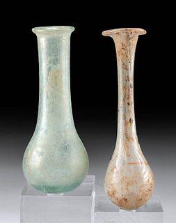 Two Petite Roman Glass Vials