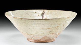 10th C. Nishapur Samanid Glazed Pottery Bowl
