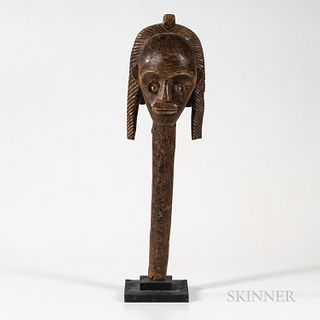African Fang-style Wood Head