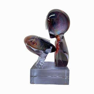Dino Rosin, Il Bacio (The Kiss) Glass Sculpture