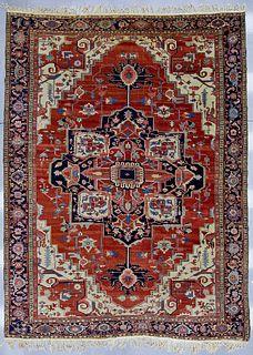 Fine Antique Serapi Oriental Carpet
