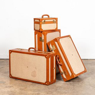 SET, FOUR PIECES OF ENGLISH HENRY'S LONDON LUGGAGE