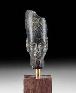 Egyptian Stone Head of a Pharaoh