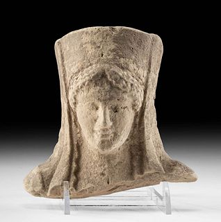 Greek Archaic Terracotta Protome of a Lady