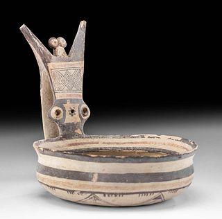 Fine Daunian Polychrome Kyathos w/ Owl