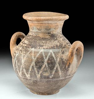 Gorgeous Cypriot Pottery Amphora w/ Painted Motif