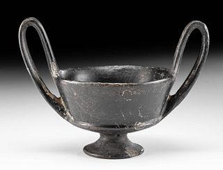 Etruscan Bucchero Blackware Kantharos