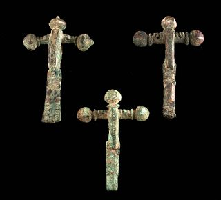 3 Roman Leaded Bronze Military Fibulae