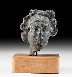 Roman Leaded Bronze Head of Apollo