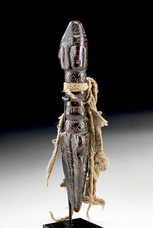 19th C. Tibetan Carved Wooden Phurba / Magic Dagger