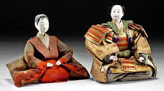 20th C. Japanese Meiji Period Dolls - Hinamatsuri