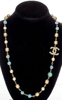 Chanel Faux-Pearl & Beaded Gold-Tone Necklace